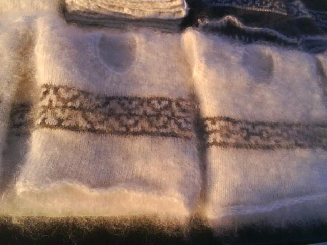 схемы вязания пуховых косынок спицами.  Автор:Admin.