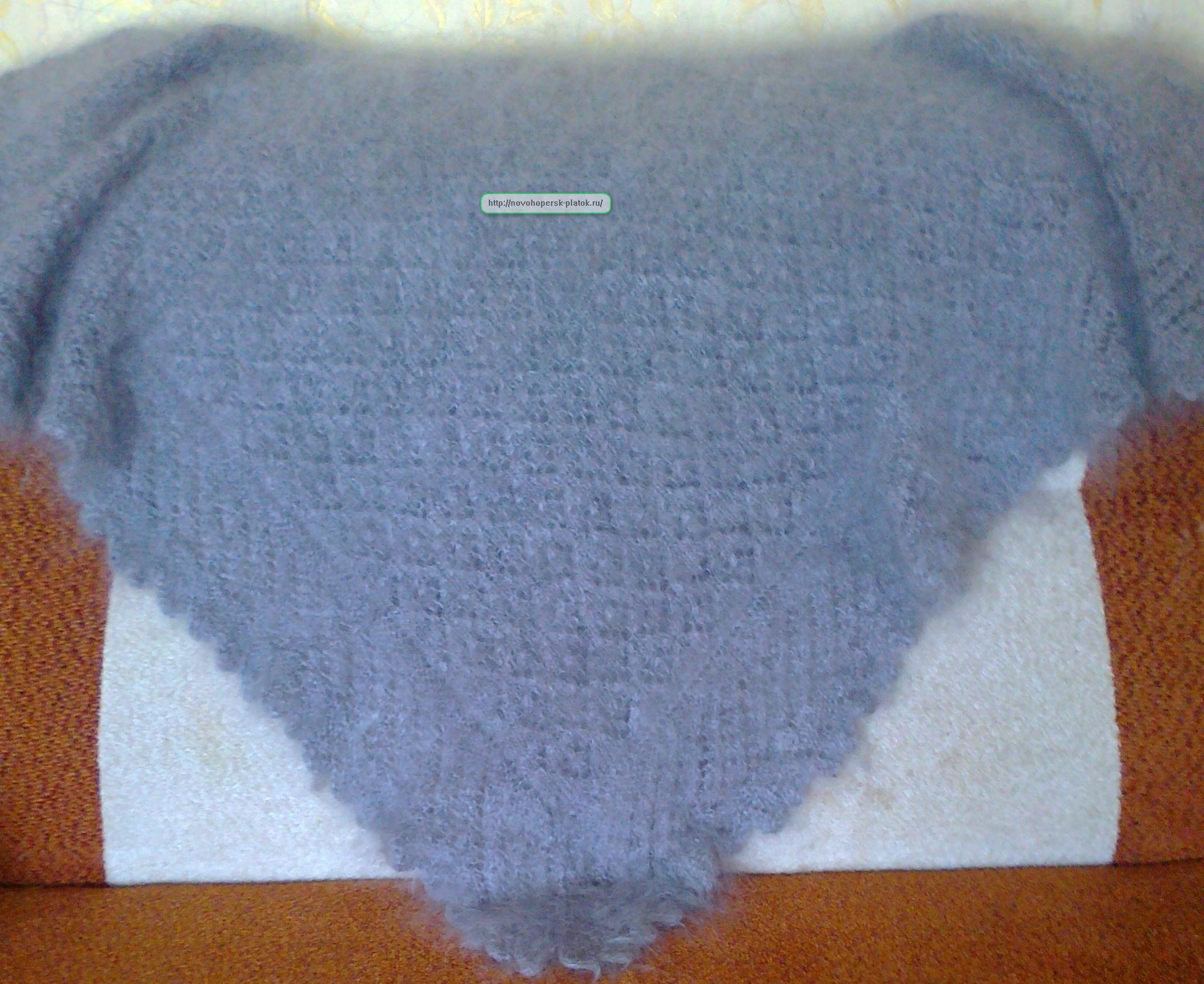 схемы вязания платка ажурног спицами