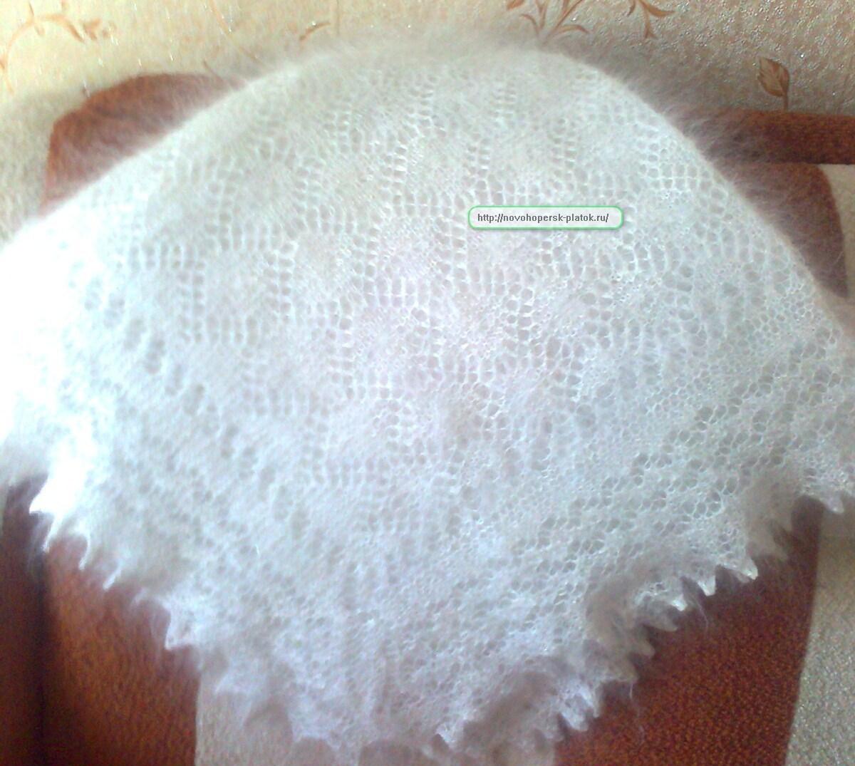Из чего вяжут пуховой платок