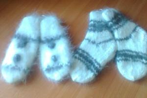 http://novohopersk-platok.ru/ Варежки и носки из кроличьего пуха-натуральные качественные теплые пушистые зимние с рисунком ручной работы от производителя оптом и в розницу